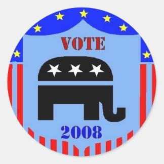 VOTE REPUBLICAN IN 2008 STICKERS POLITICS