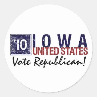 Vote Republican in 2010 – Vintage Iowa Sticker