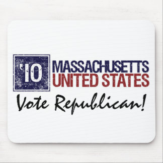 Vote Republican in 2010 – Vintage Massachusetts Mouse Pad
