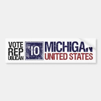 Vote Republican in 2010 – Vintage Michigan Bumper Sticker