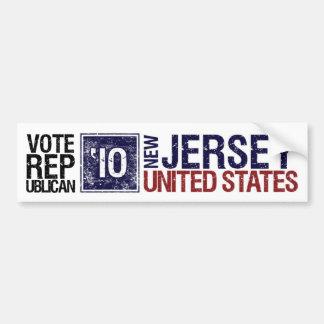 Vote Republican in 2010 – Vintage New Jersey Bumper Sticker