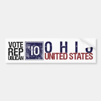 Vote Republican in 2010 – Vintage Ohio Bumper Sticker