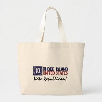Vote Republican in 2010 – Vintage Rhode Island Large Tote Bag