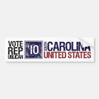 Vote Republican in 2010 – Vintage South Carolina Bumper Sticker