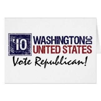 Vote Republican in 2010 – Vintage Washington DC Card
