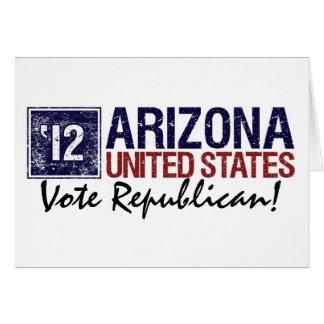 Vote Republican in 2012 – Vintage Arizona Card