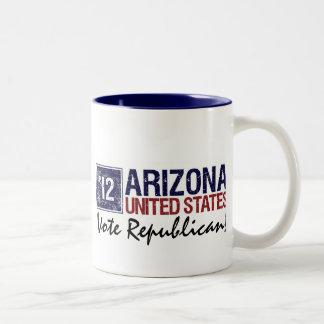 Vote Republican in 2012 – Vintage Arizona Two-Tone Coffee Mug