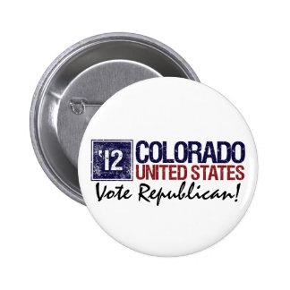 Vote Republican in 2012 – Vintage Colorado Pin