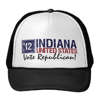 Vote Republican in 2012 – Vintage Indiana Trucker Hat