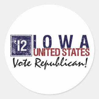 Vote Republican in 2012 – Vintage Iowa Sticker