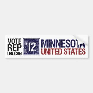 Vote Republican in 2012 – Vintage Minnesotaa Bumper Sticker