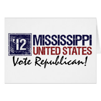 Vote Republican in 2012 – Vintage Mississippi Card