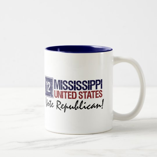 Vote Republican in 2012 – Vintage Mississippi Two-Tone Coffee Mug