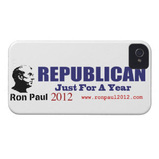 Vote REPUBLICAN Just For A Year Ron Paul 2012 iPhone 4 Case