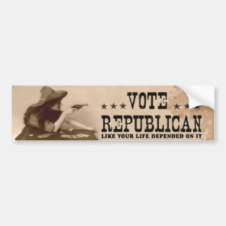 Vote Republican Like Your Life Depended On It Car Bumper Sticker