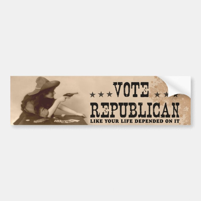 Vote Republican Like Your Life Depended On It Bumper Sticker