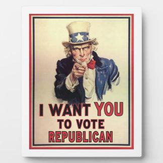 Vote Republican Plaque