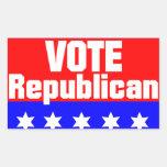Vote Republican Rectangle Stickers