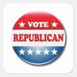 VOTE REPUBLICAN SQUARE STICKER