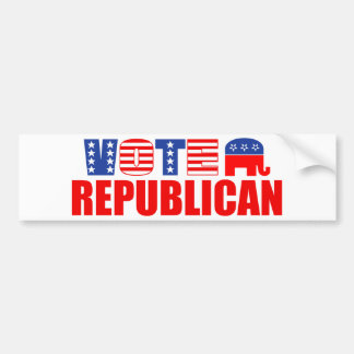 Vote Republican (Stars And Stripes) Bumper Sticker