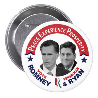 Vote Republican Vote Romney & Ryan Pinback Buttons