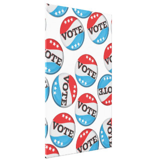 Vote Retro Badge Canvas Print