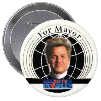 Vote Rev Billy 4-inch Pin