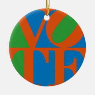 VOTE revamped from 1970s LOVE Ceramic Ornament