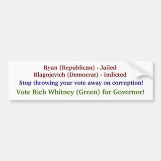Vote Rich Whitney for IL Governor! Bumper Sticker