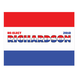 Vote Richardson 2010 Elections Red White and Blue Postcard