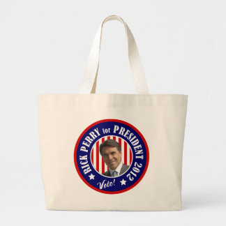 Vote Rick Perry for President 2012 Canvas Bags