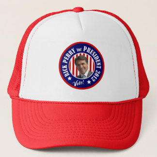 Vote Rick Perry for President 2012 Trucker Hat