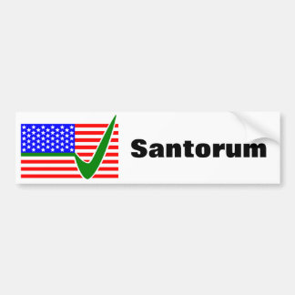 Vote Rick Santorum For President Bumper Sticker