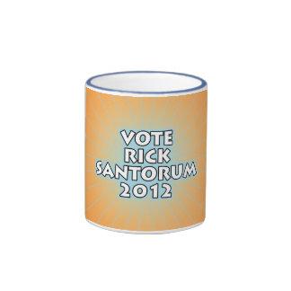 Vote Rick Santorum Ringer Mug