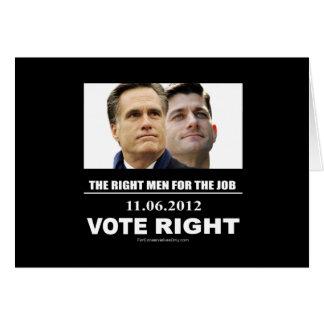 Vote Right 2012 Card