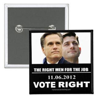 Vote Right 2012 Pinback Button