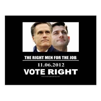 Vote Right 2012 Postcard