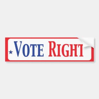 Vote Right Car Bumper Sticker