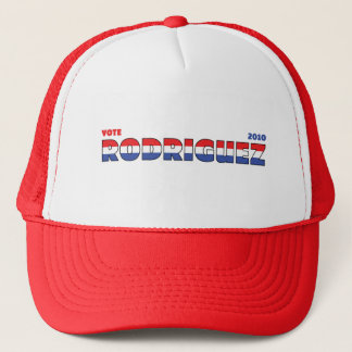 Vote Rodriguez 2010 Elections Red White and Blue Trucker Hat
