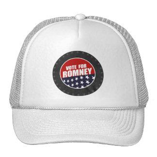 VOTE ROMNEY BUTTON TRUCKER HAT