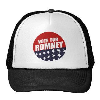 VOTE ROMNEY BUTTON HAT