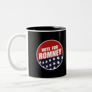 VOTE ROMNEY BUTTON MUG