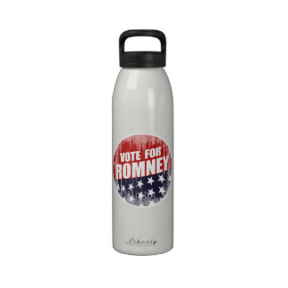 VOTE ROMNEY BUTTON.png Drinking Bottle