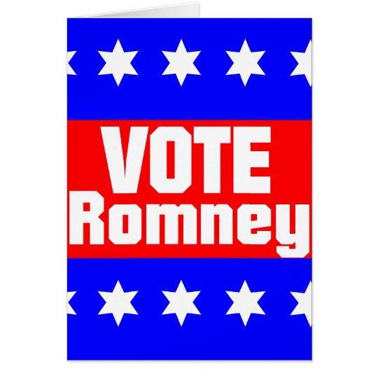 Vote Romney Card