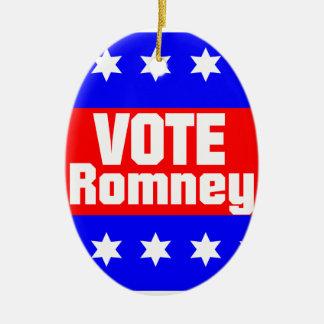 Vote Romney Ceramic Ornament