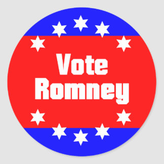 Vote Romney Classic Round Sticker