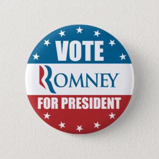 Vote Romney for President Button