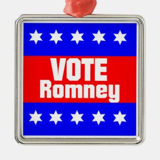 Vote Romney Metal Ornament