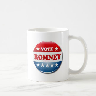 VOTE ROMNEY CLASSIC WHITE COFFEE MUG