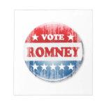 VOTE ROMNEY NOTE PAD